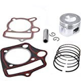 Piston Rings Gasket Set 52.4mm Bore Replacement for Kazuma Taotao Sunl Coolster Roketa BMS SSR 110cc 125cc