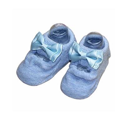 2 paires coton bébé Chaussettes Bébés filles Chaussettes pour 6-18 mois, Bleu B