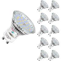 Bombilla LED GU10, 5 W equivalente a 60 W Halógena, blanco cálido 2700K 600LM, 120 °…