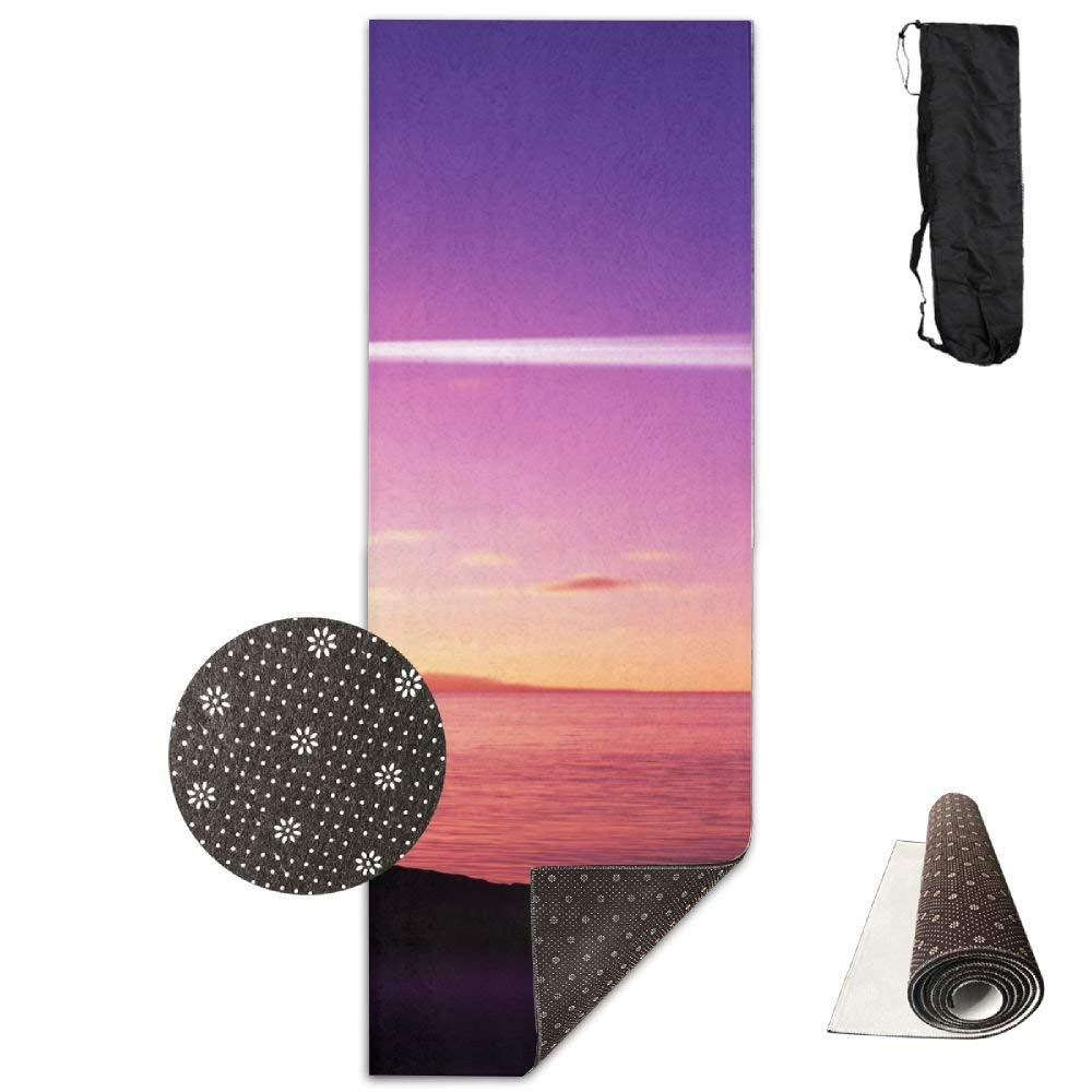 Lighthouse By The Beach Deluxe,Yoga Mat Aerobic Exercise Pilates Anti-slip Gymnastics Mats