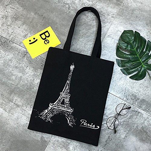 Shopping Shanzwh Sacs Fichier Noir À Toile Sac Tour Simple Main tout Bandoulière Fourre Femme rrOdqx7