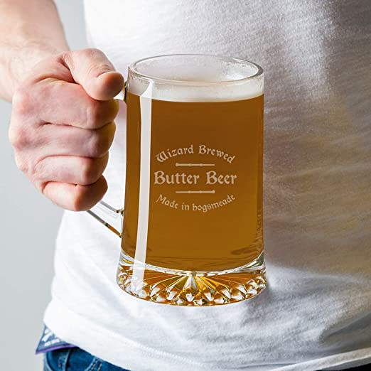 Dust and Things Jarra de Cerveza de Cristal con diseño de ...