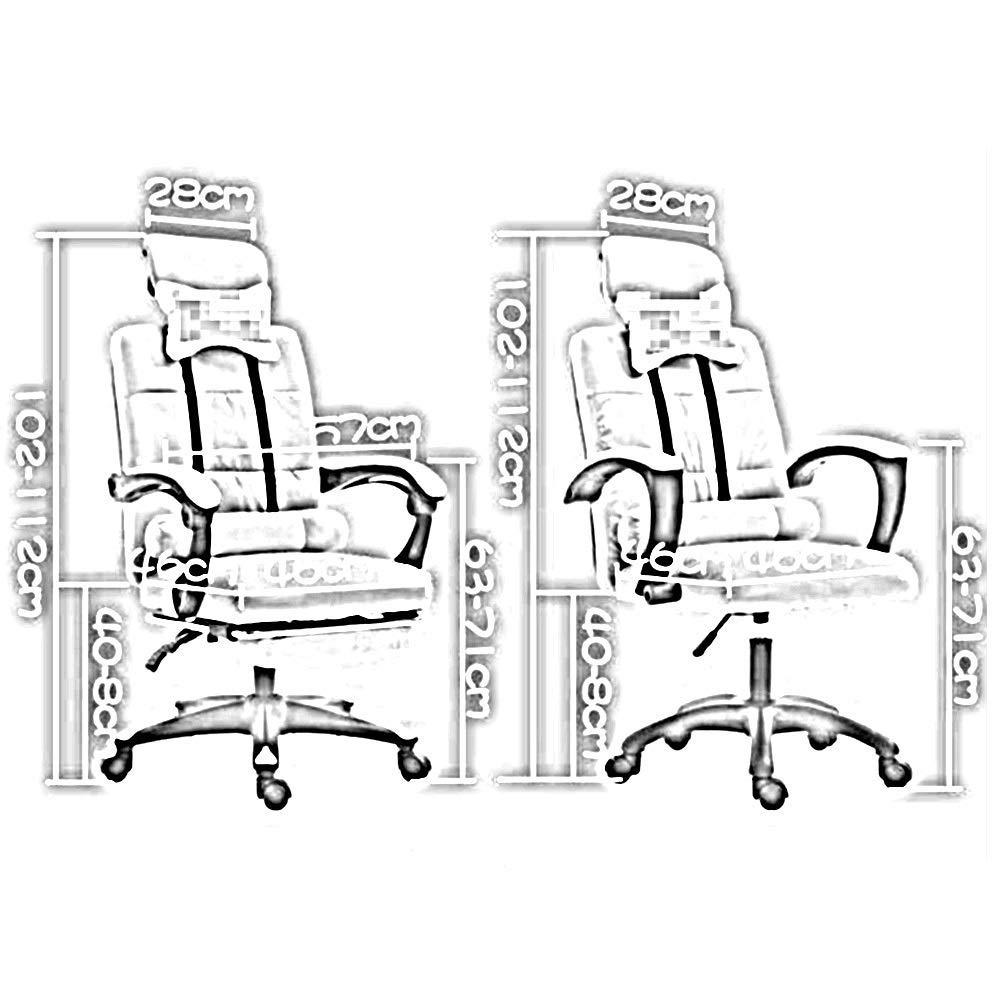 JIEER-C stol svängbar stol spelstol, ergonomi vilande hög rygg kontorsstol lyft rotation multifunktion datorstol med nackstöd och ländrygg massagestöd, C c