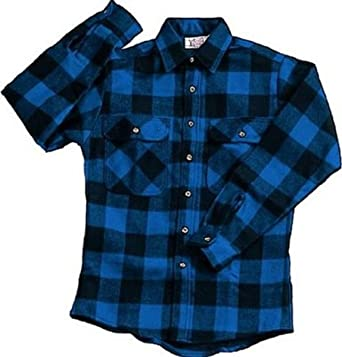 Amazon.com  Extra Heavyweight Brawny Plaid Flannel Shirt (3X-Large ... 682cfb720f5