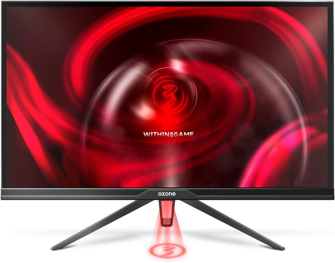 Monitor Gaming Ozone DSP27 IPS - Diseñado para Gaming - Pantalla 2560x1440 2K QHD Full HD Monitor, 27