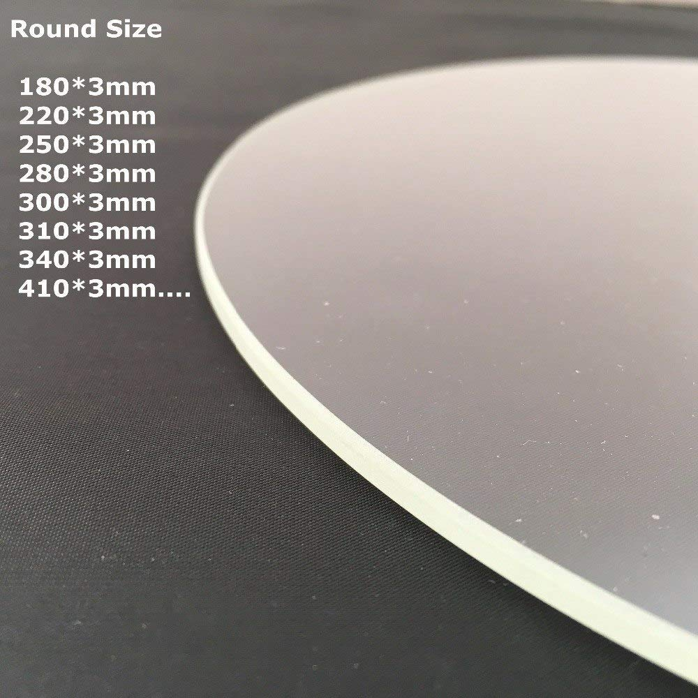 AiCheaX – Cristal de borosilicato redondo 170 mm 180 mm 240 mm 250 ...