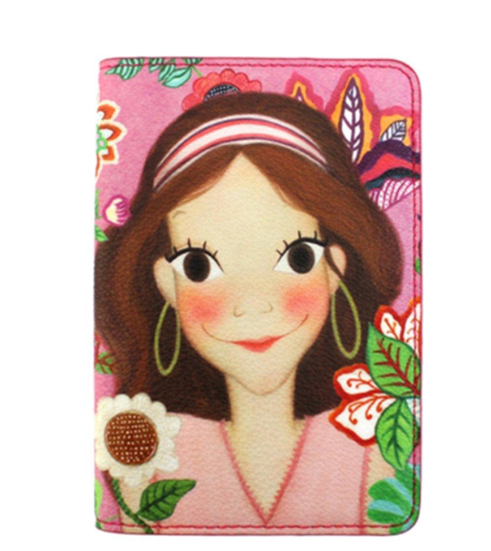 [Youk Shim Won] YSW, Ivy Leather Passport Wallet, Luna #D1092LUIP0F, Korean Artist Design