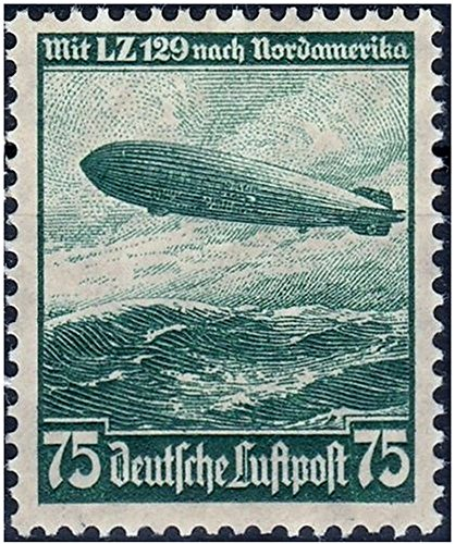 STUNNING RARE ORIGINAL MINT UNCANCELLED 1936 NAZI ZEPPELIN STAMP! FIRST FLIGHT TO USA! 1 STAMP in GREEN or BLUE (Order 2 for Both Colors)