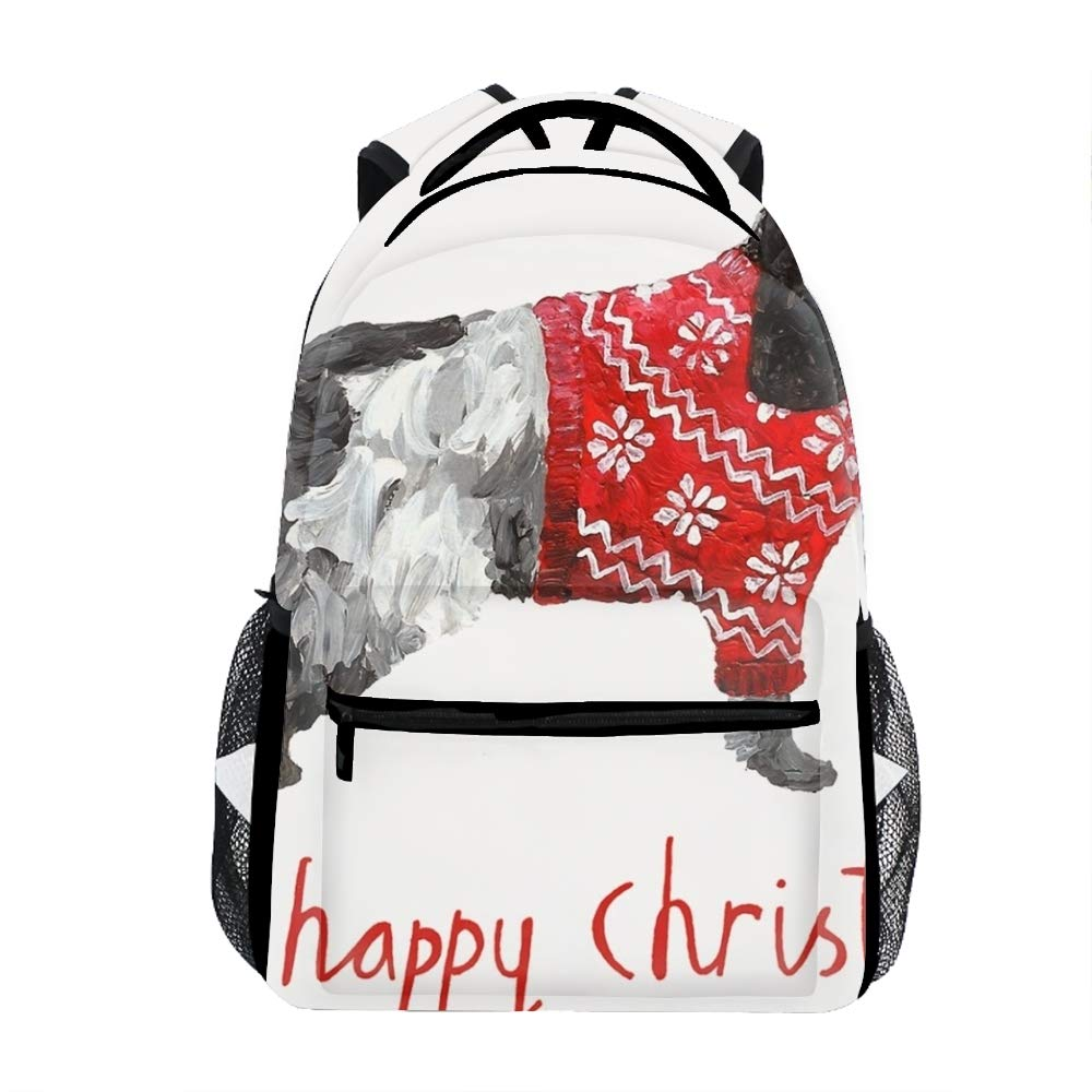 Happy Christmas9 colorful Geometric Casual Backpack Bag, Fashion Lightweight Backpacks for Teen Young Girls