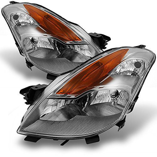 For Nissan Altima 2 Doors Coupe D32 Chrome Clear Halogen Type Headlights Front Lamps Replacement Pair