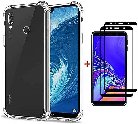 Funda Huawei Honor 8X Ttimao Soft Transparente Silicona Diseño de cojín de Aire Protección contra caidas Ultra Delgada Anti-Shock TPU Cover+2*Protector de Pantalla de Vidrio Temperado: Amazon.es: Electrónica