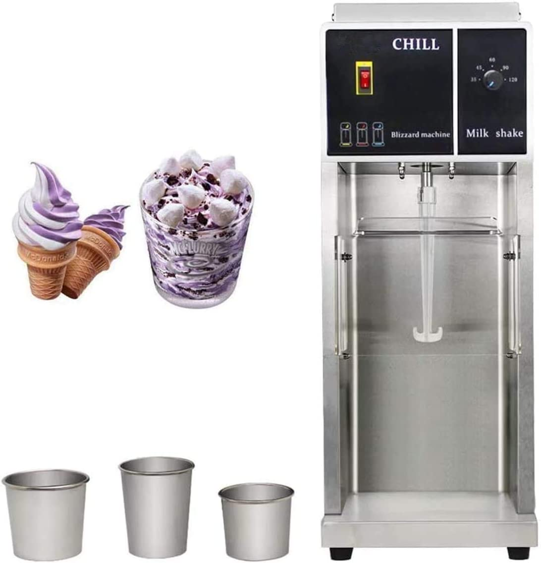 Commercial Chill Drink Mixer Ice Cream Maker Machine Blender 110-120v with 3 of Hand Cups