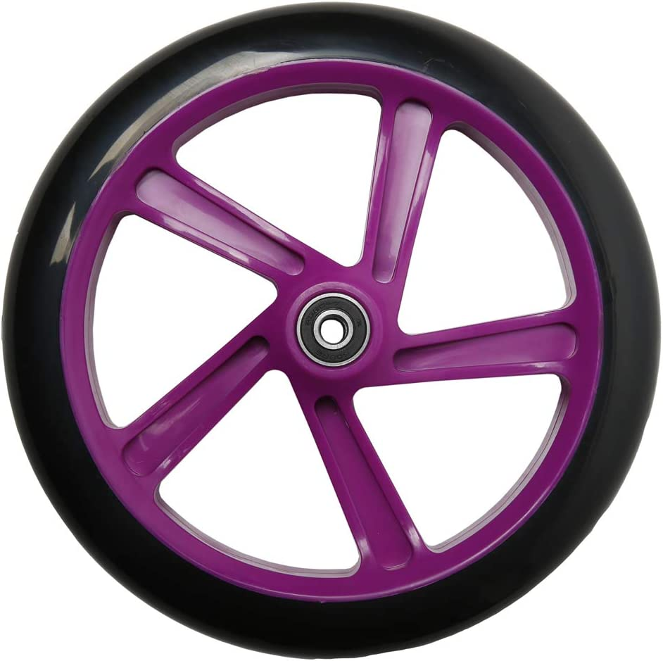 FREEDARE Adult Kick Scooter Wheels with Bearings Big PU Wheels 200mm 2PCS