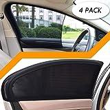 Sakura Black Car Window Mesh Sun Shade Protector Foldable 2 Pack Baby Children/'s