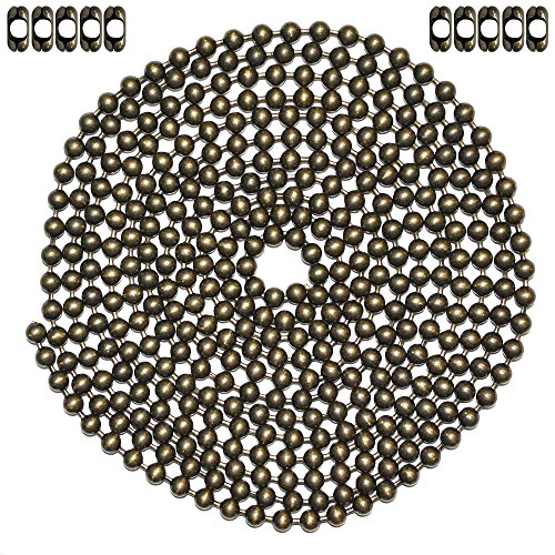 Ball Chain Suppliers (10 Foot Length Ball Chain, #13 Size, Medieval Brass, & 10 Matching 'B' Couplings)