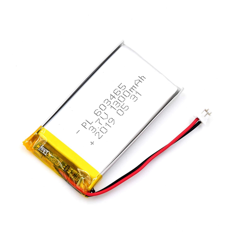 Bateria Lipo 3.7V 1300mAh 603465 Recargable JST Conector