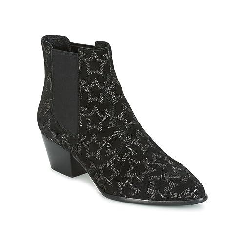 Ash Zapatos Lois Botines de Cuero Negro Mujer 36 EU Negro ZOsRJfIcOB