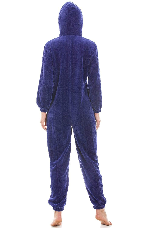 8199b4a57 Amazon.com  Camille Womens Blue Luxury Super Soft Fleece Hooded ...