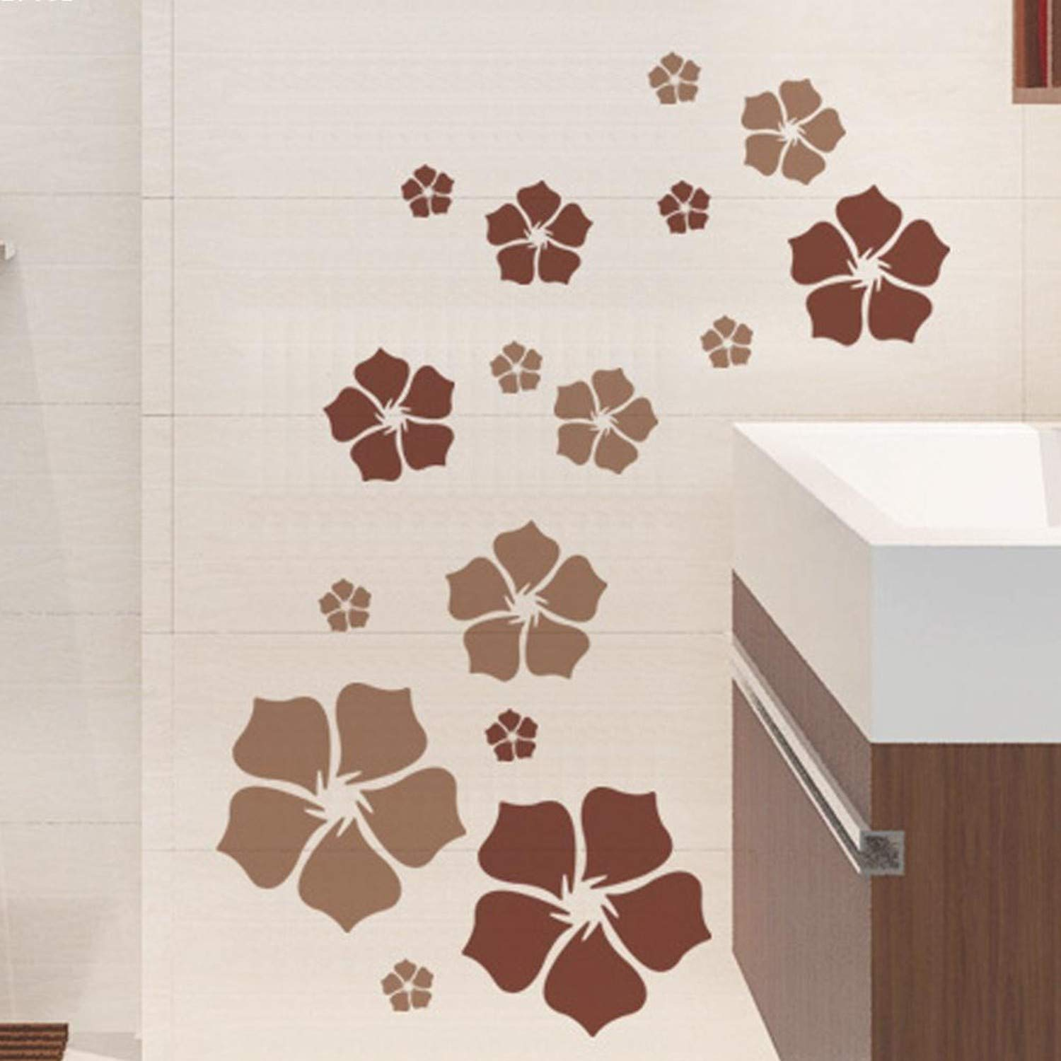 Amazon.com: Chitop Removable Beautiful Flowers Wall Sticker - Children Living Room Bedroom Decor Environmental Protection DIY Wall Stickers (Brown): Home & ...