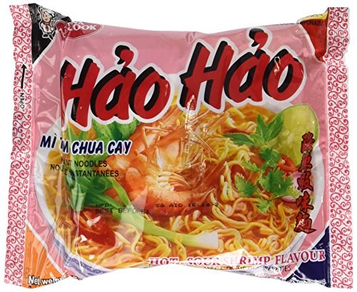 Price comparison product image Hao Hao Mi Tom Chua Cay (Hot Sour Shrimp Flavor Noodle) - 2.7oz [Pack of 30]