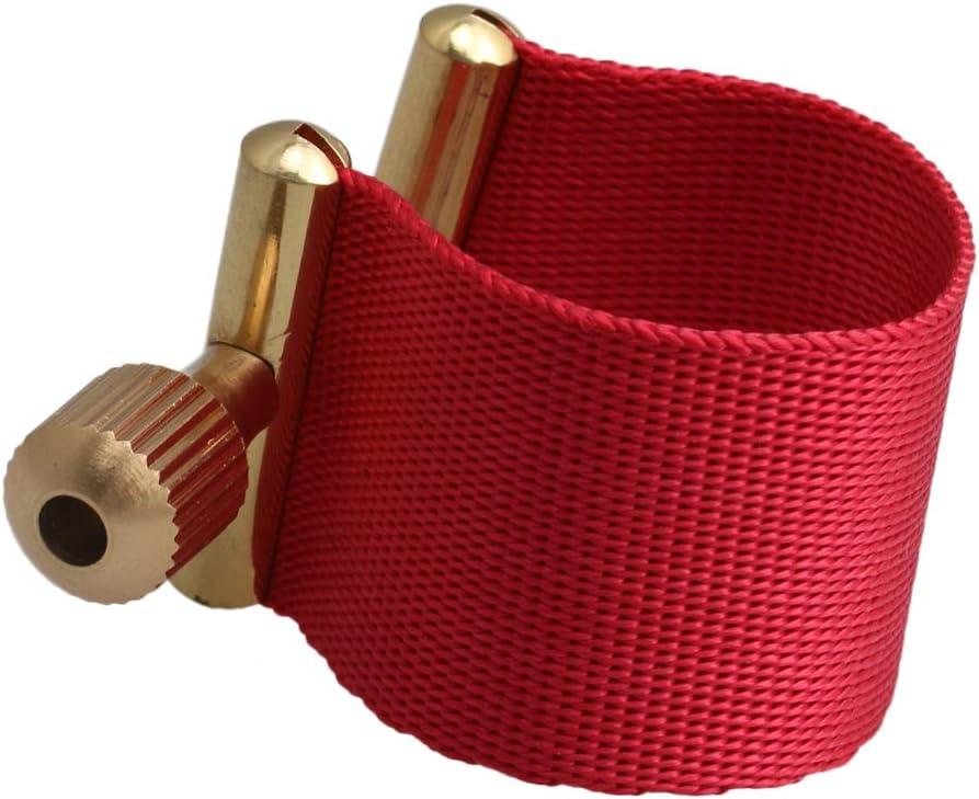Mxfans Tenor Sax Rubber Mouthpiece Ligature Saxophone Head Clips Sax Parts Red