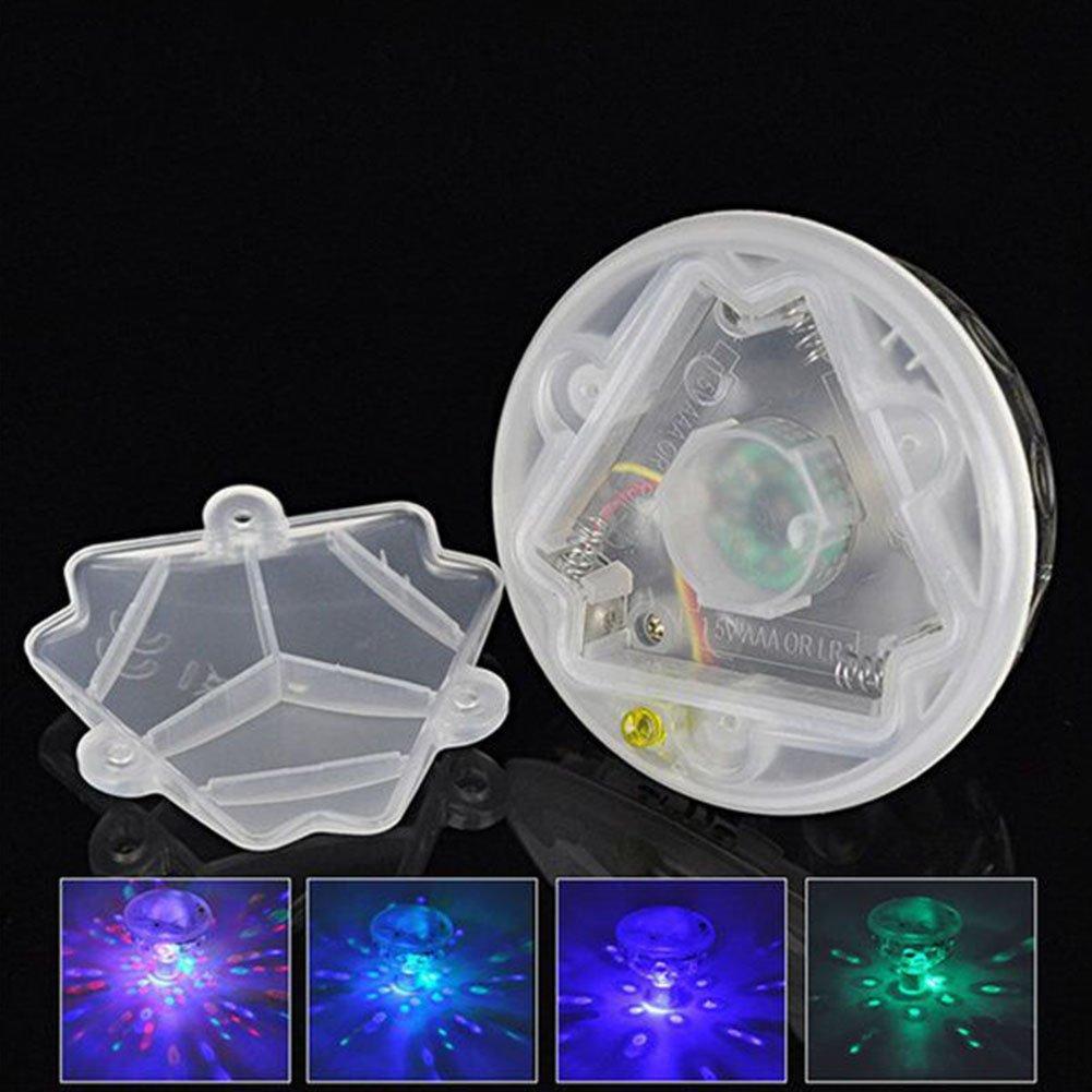 cheerfulus 1 PCS sous-Marine Flottant Lumi/ère Automatique 5 Couleurs Changement LED Disco Lumi/ère Spectacle Piscine Spa Spa Lampe