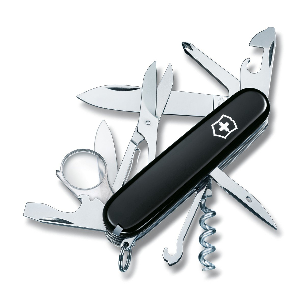 Victorinox Swiss Army Explorer Pocket Knife (Black)