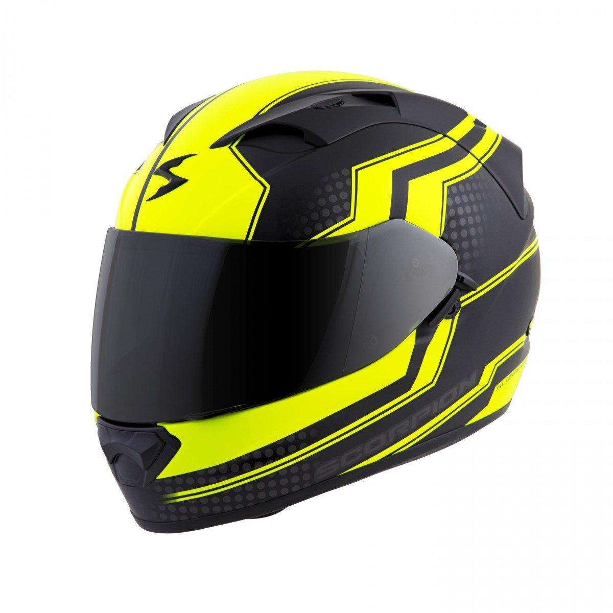 Scorpion EXO 1200 Air Stream Tour Fluo Yellow Black Full Face Motorcycle Helmet
