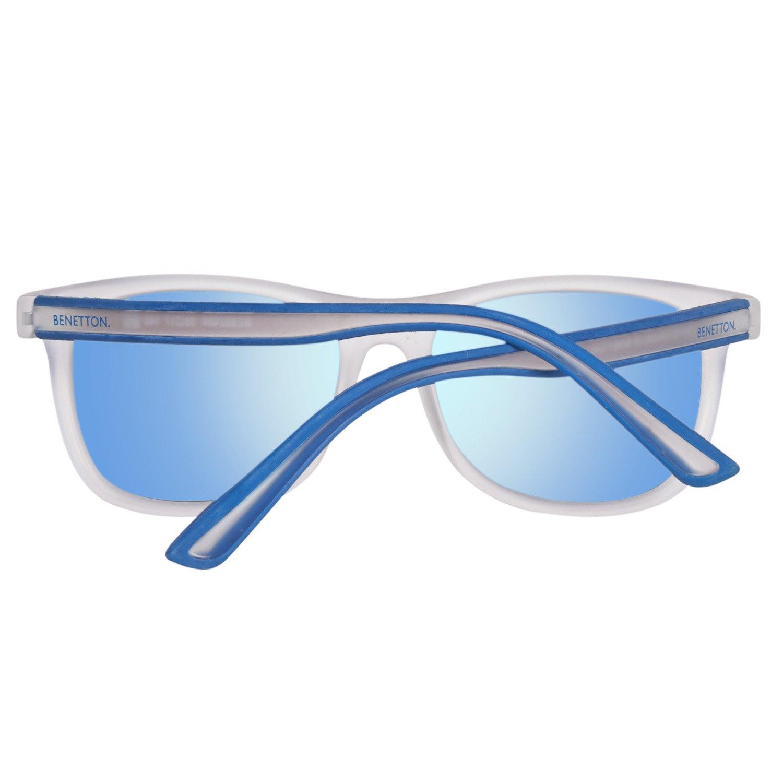 Amazon.com: Benetton Be982S 04 (color blanco mate – azul con ...