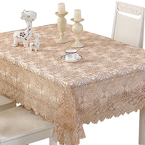 Fancy Table Cloth (BeautiLife Vintage Lace Tablecloth Elegant Embroidered Floral Table Cover for)