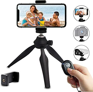 Flexible Tripod Mini Universal Octopus Leg Style Portable Adjustable Tripod Stand with Ball Head /& Phone Clamp Tripod Mount Adapter /& Long Screw for Cellphone SLR Cameras