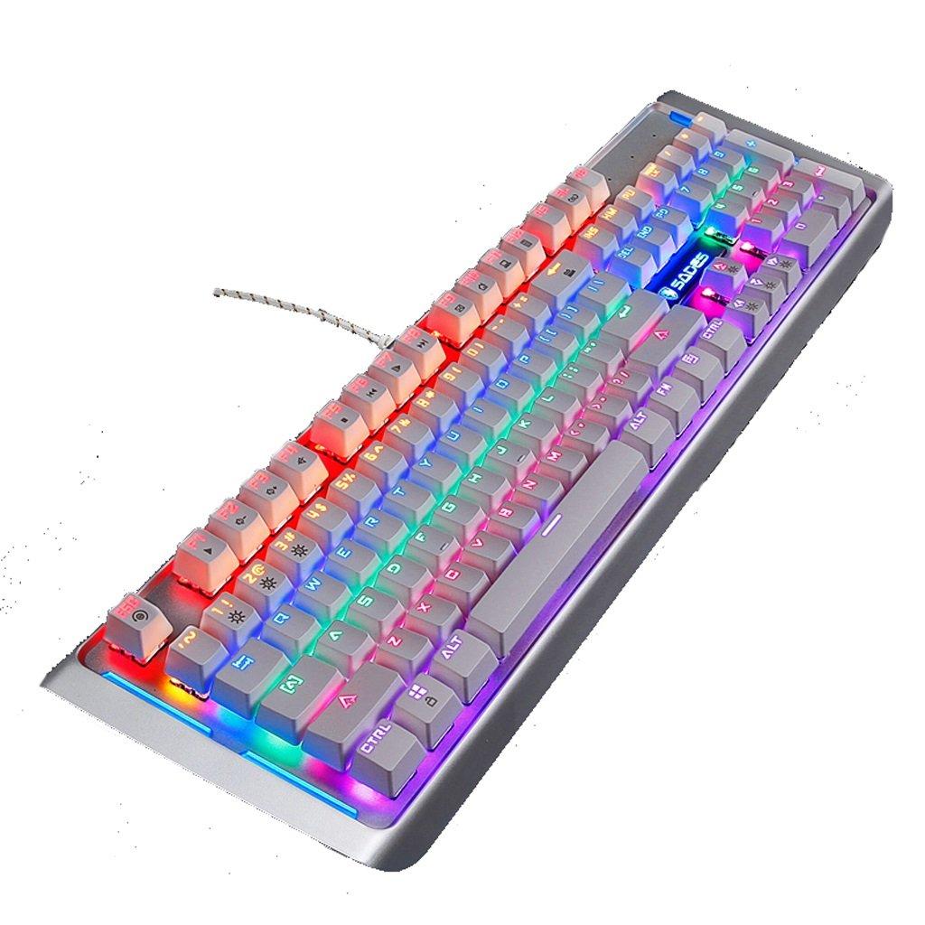 ゲーミングキーボードメカニカルイルミネーションキーボードLEDバックライト付きPCゲーマーバックライト付きキーボードブルースイッチホワイトキーキャップ (Color : : (Color White-black B07FTGS9XK axis) B07FTGS9XK, KOUKEN -online-:fbf7ae42 --- elmont.su