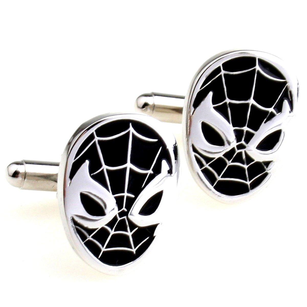 Red / Black brass high quality Spiderman French style men cufflinks Venom (black) YAOLIHONG 6256958SW0_1