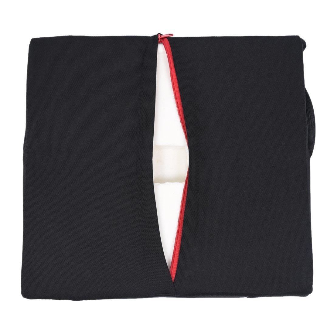 R Cojin de lumbar posterior Cojin trasero del coche para soporte de postura lumbar de masaje electrico 12V Negro TOOGOO