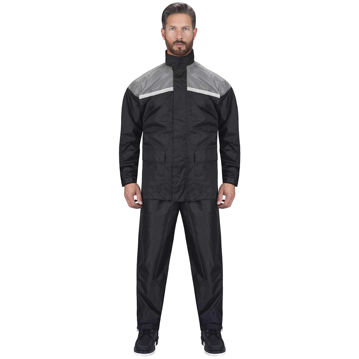 Viking Cycle Motorcycle Rain Gear - Two Piece Motorcycle Rain Suit (Oray, S)
