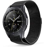 ProCase Correa de Reemplazo para Galaxy Watch (42mm), Pulsera Milanesa de Acero Inoxidable Banda de Metal Muñequera Ajustable para Samsung Galaxy Watch (42mm) para Mujeres y Hombres –Negro, Pequeño