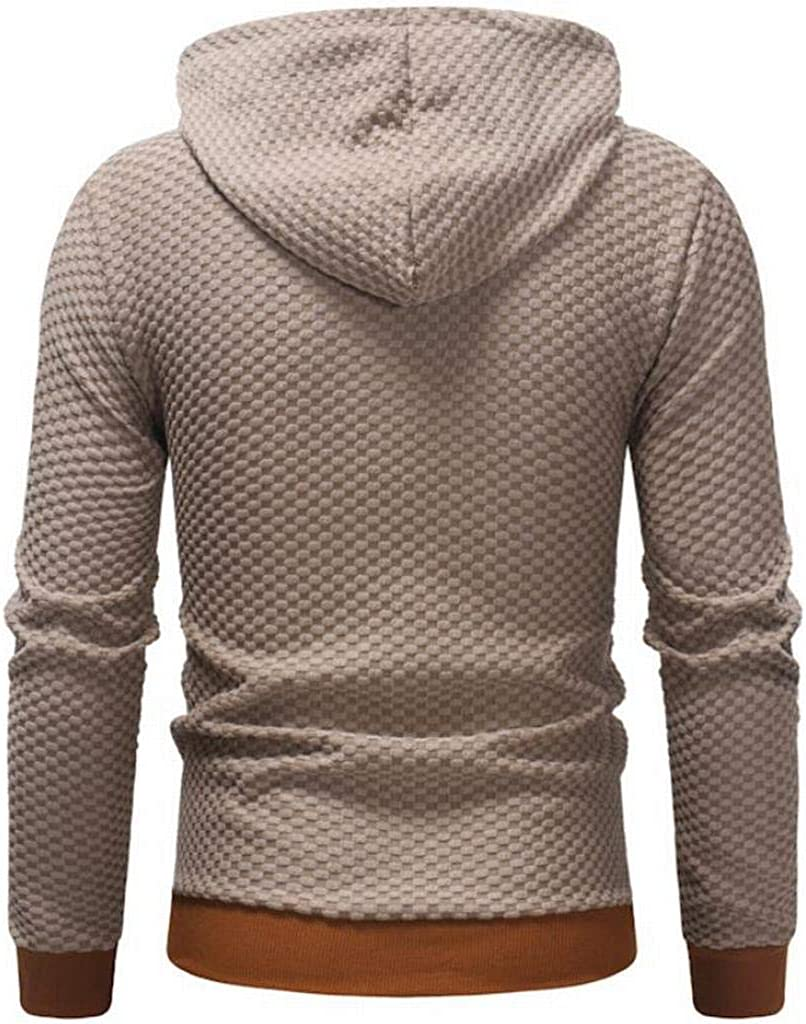 YYG Mens Casual Long Sleeve Solid Color Zip Front Slim Hooded Sweatshirt Jacket