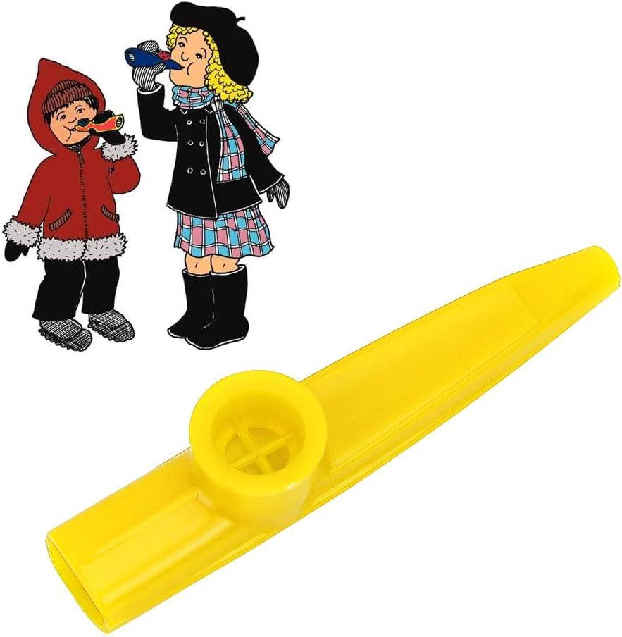 Dilwe Mini Kazoo de Guitare Portable en Plastique Kazoo Facile /à Apprendre Enfants