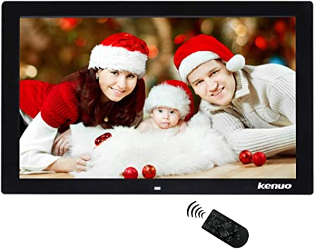 Photo//Video Player with Infrared Remote Control,Black Advertising Media Player 1024/×600 HD Widescreen Advertising Machine MP3 QOUP 10 Inch Digital Photo Frame