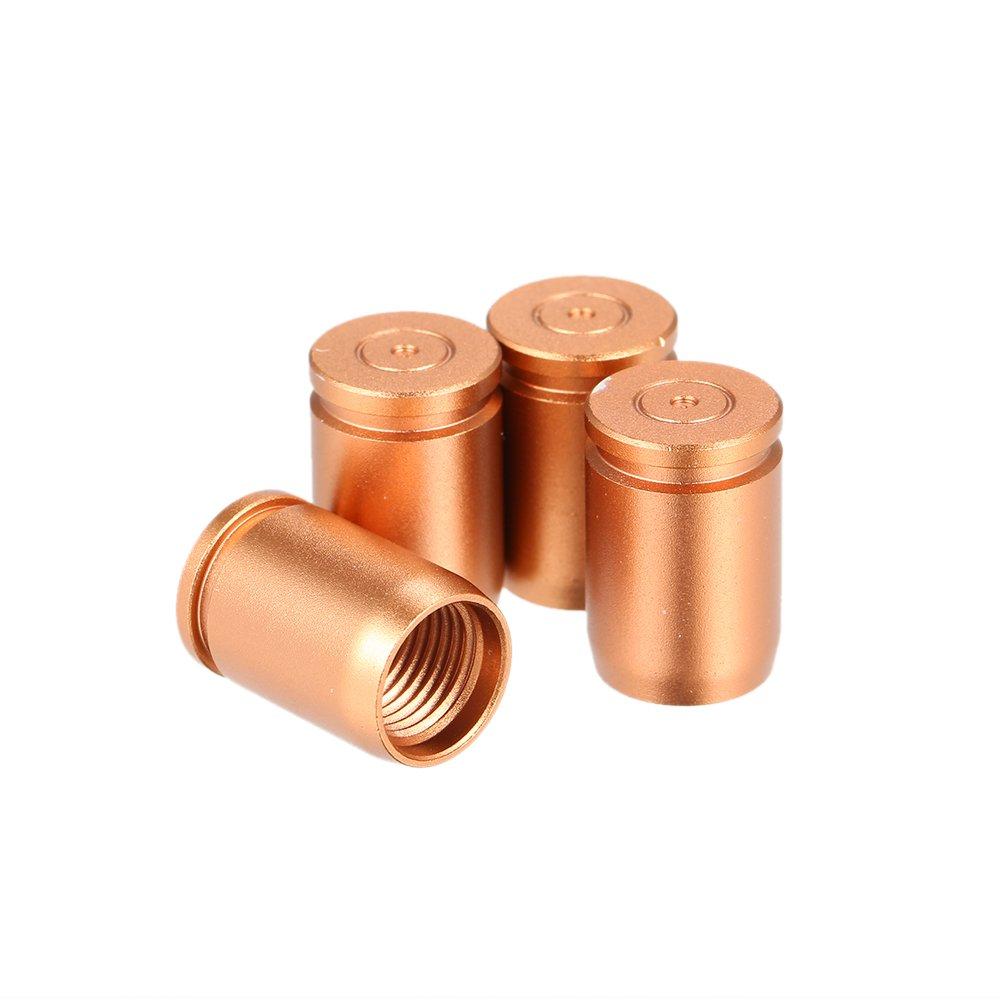 KKmoon 4pcs Aluminium Alliage Voiture Roue Pneus Vannes Bouchons Anti-Poussiè re Couvre Pneu Tige Air Valve Cache-Poussiè re