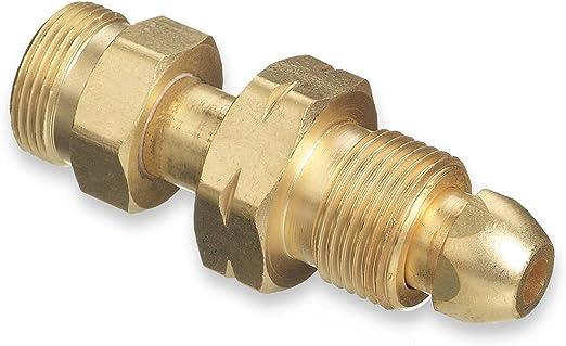 Adaptor # 314 Western CGA-200 MC Acetylene Cylinder//Tank to CGA-520 B Regulator