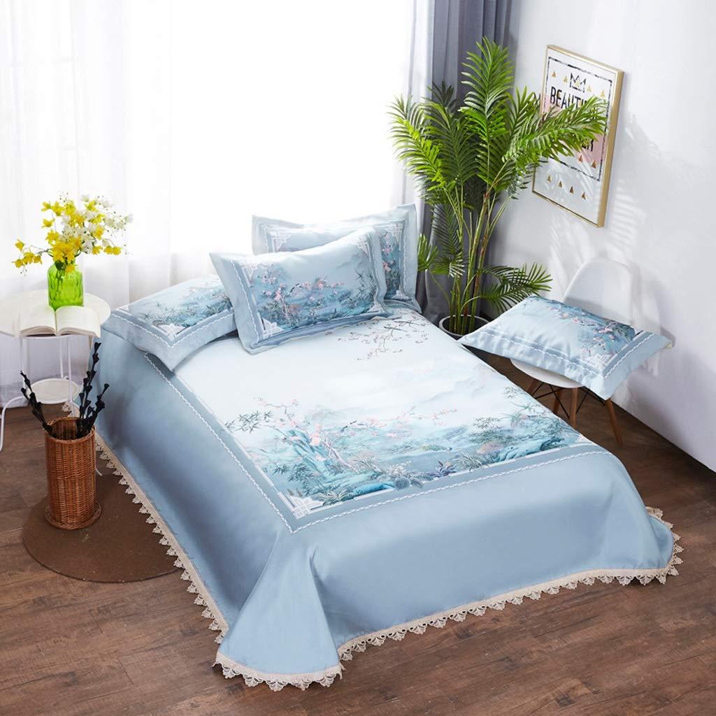 Nosterappou 夏のアイスシルクマットスリーピースデジタル印刷寝具マット、快適な睡眠、吸湿体、柔らかな風合い、ダメージなしの折りたたみ、より省スペース(250 * 250 cm) (サイズ さいず : 250*250cm) B07QB59VTS  250*250cm