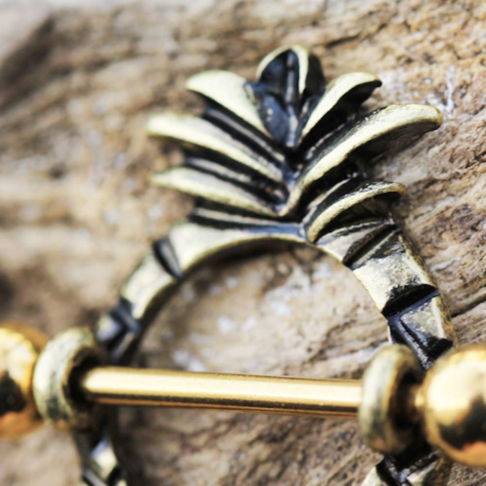 Covet Jewelry Gold Plated Pineapple Nipple Shield