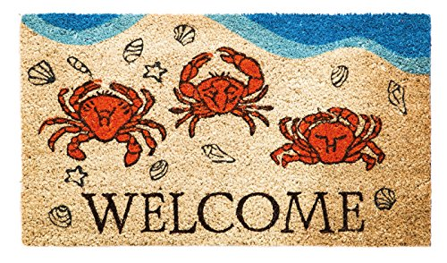 [Evergreen Crustacean Welcome Coir Mat, 28 x 16 inches] (Welcome Crab)
