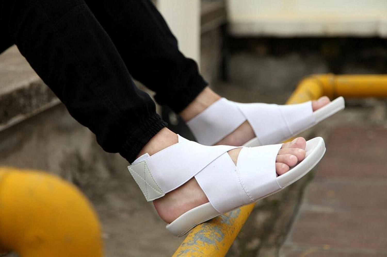 ZFNYY Männer Sommer TarnSandale Trend Strand Schuhe Sandalen Jugend Kühlen Elastischen Stoff Sandalen Schuhe Weiß 618d08