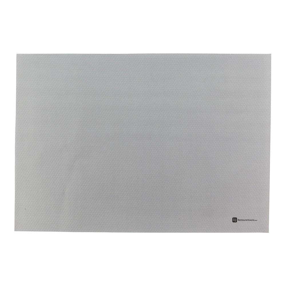 Single Use Place Mat - Heavy Weight - Grey - Disposable Placemats - 20'' x 14'' - 1000ct Box - Restaurantware