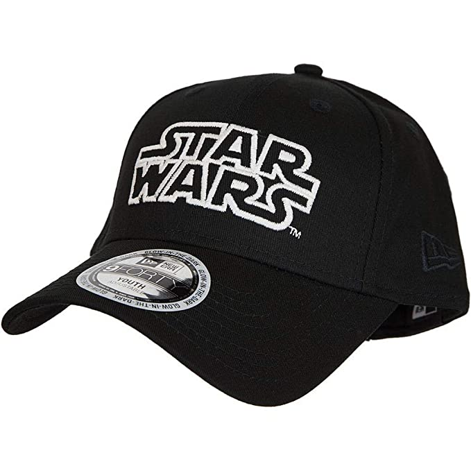 finest selection 7105a cc98b New Era Star Wars Glow in The Dark 9Forty Strapback Cap Black Youth  Jugendliche  Amazon.co.uk  Clothing