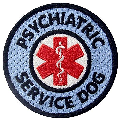Service Dog EMS Medic Paramedic Star of Life Psychiatric Vests/Harnesses Emblem Embroidered Fastener Hook & Loop Patch