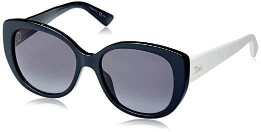 Christian Dior Damen Sonnenbrille DIORLADY1N 9O 9HT, Schwarz (Black Ivory/Dark Grey Sf), 55