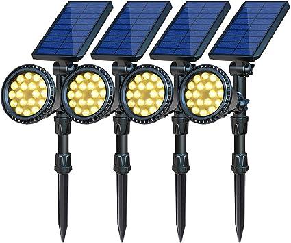 Solar LED Outdoor Yard Lights Waterproof Warm White Lawn Light Solar Powered